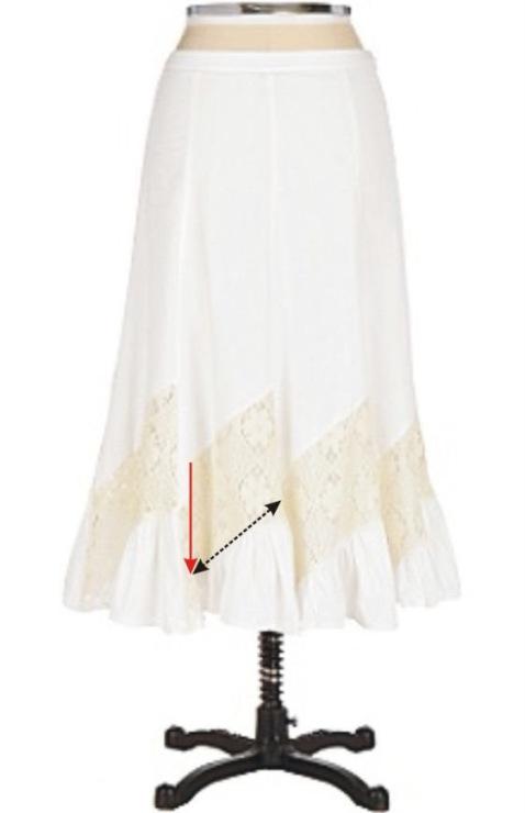 Комбинированные с тканью вязанные юбки