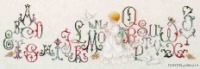 """Добавлено: 30-07-2009, 21:30.   """"Алфавит.  Схема для вышивания прописного английского алфавита со всякими закарючками."""