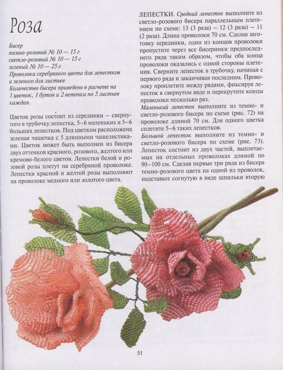 Розы из бисера схемы плетения мастер классы