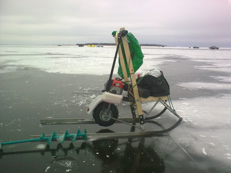 Финские сани с мотором видео