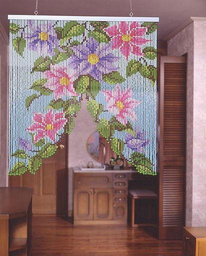 Бисерные шторы - идеи для вдохновения.