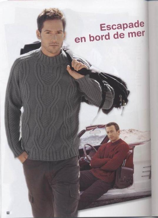 Схемы вязания мужских свитеров