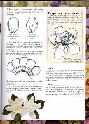 Цветы из ткани.Книга.