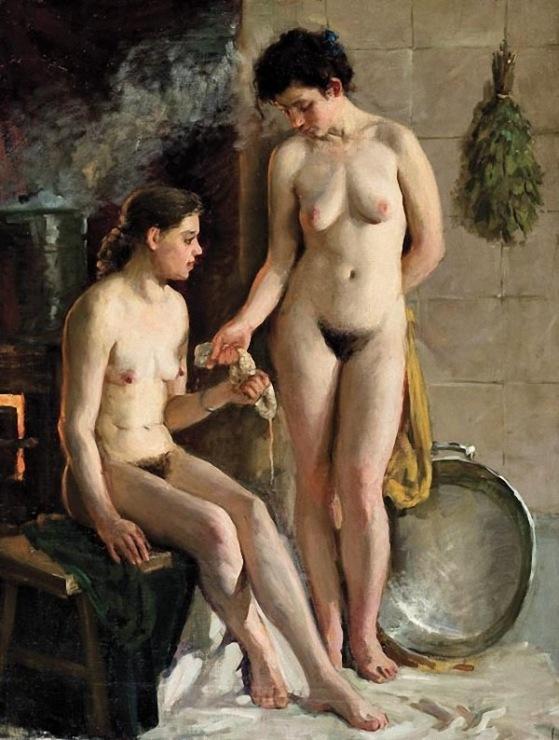 Секс в женскойбане 18 фотография