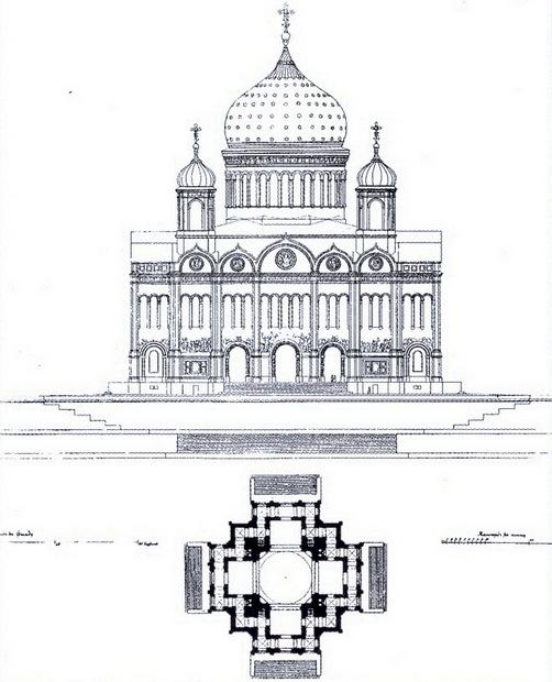 Изначально храм проектировался