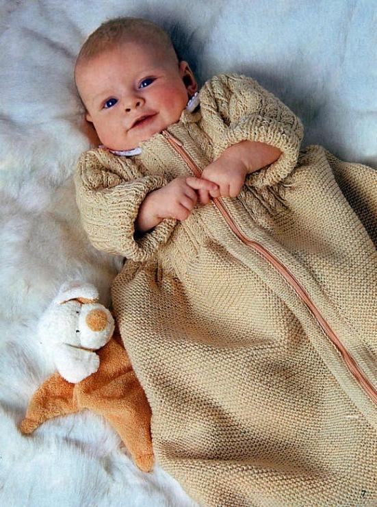 Спальный мешок для новорожденных вязать