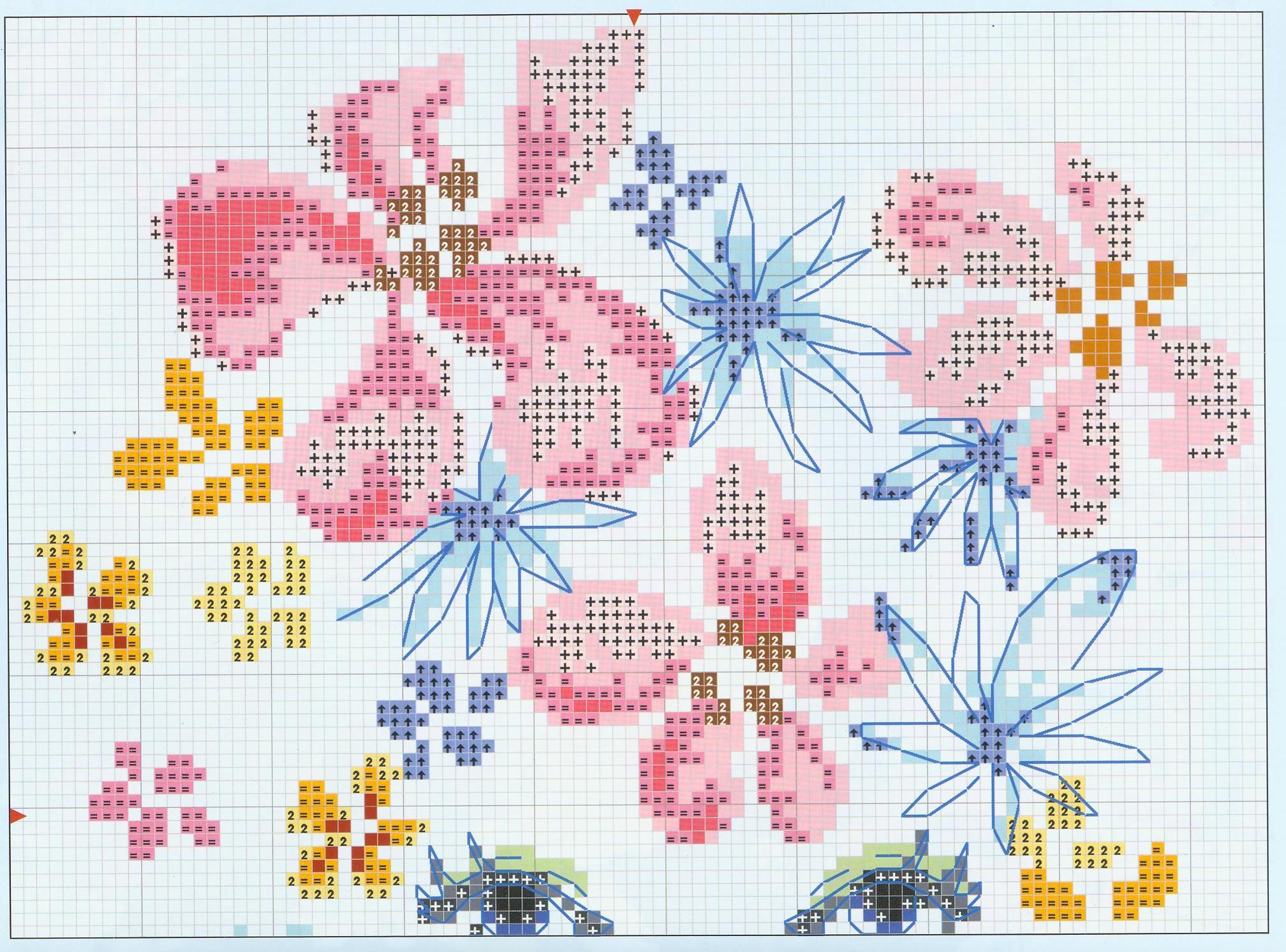 схема вышивки павлина от анкор майя в pm